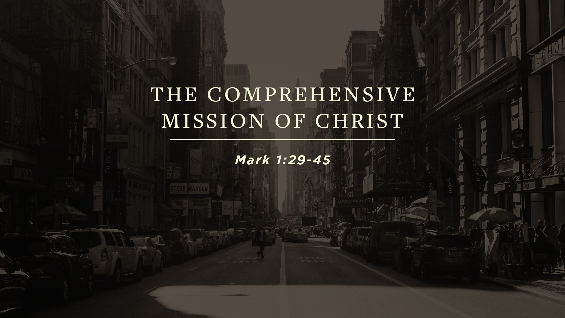 The Comprehensive Mission of Christ