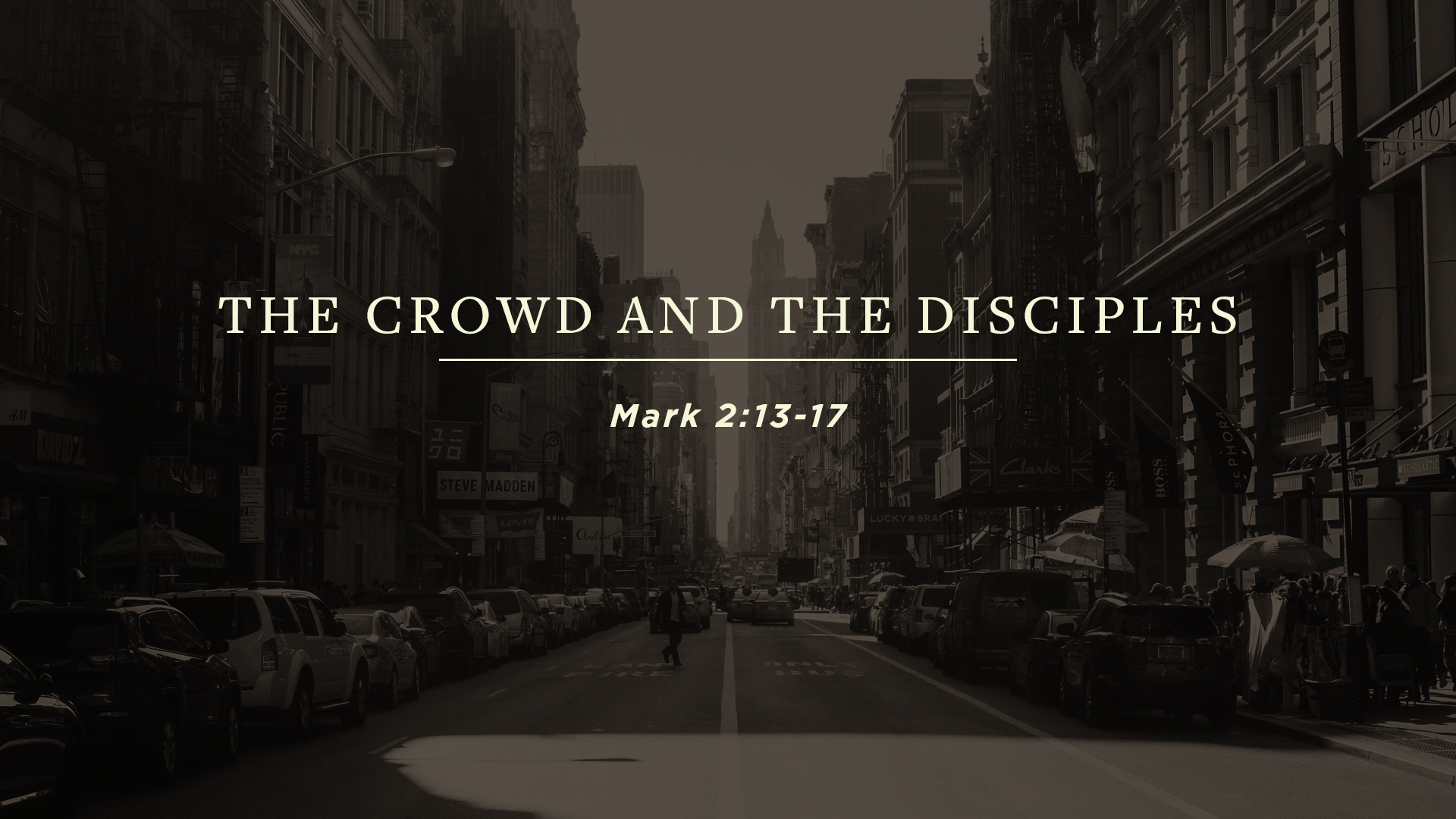 The Crowd and the Disciples