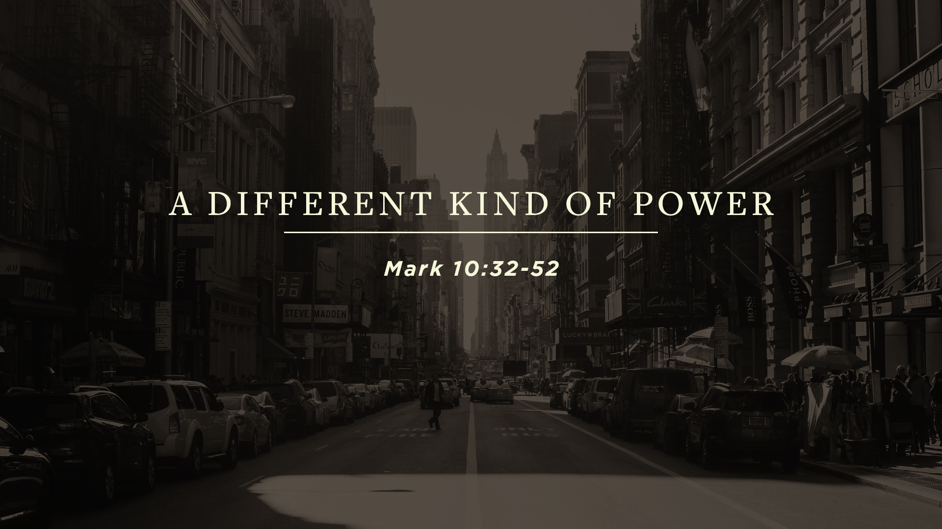SERMON   A Different Kind of Power