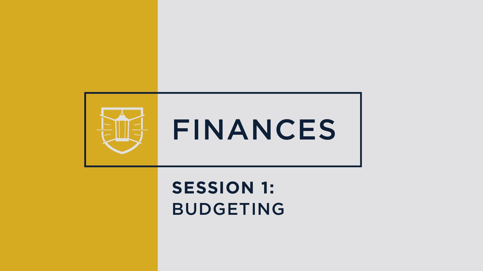 Finances 1: Budgeting